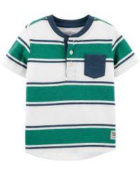 Camiseta Infantil Henley Listrada OshKosh