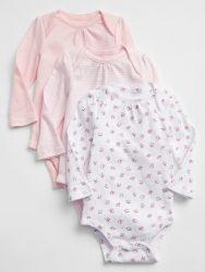Kit Bodysuit GAP Baby 3 peças – 06 – 12 Meses