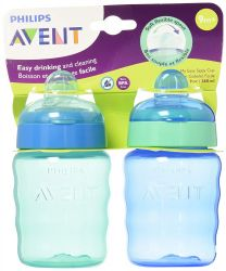Kit com 02 Copos Easy Sippy Philips Avent - SCF553 / 25. Azul e Verde.