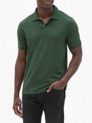 Camisa Polo GAP Pique Verde Oliva
