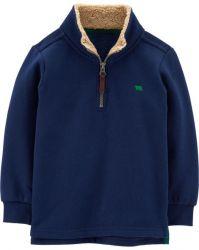 Pullover Infantil Half-Zip Moleton Masculino Carter