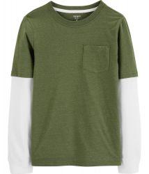 Camiseta c/ Mangas em Camadas Carter