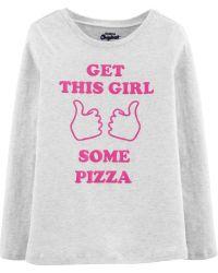 Camiseta Feminina OshKosh -Cinza