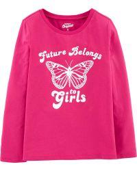 Camiseta Feminina OshKosh - Pink.