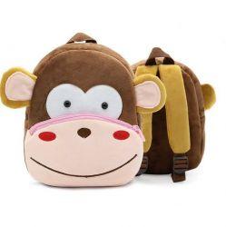 Mochila Infantil Ladyzone Zoo Macaco – Pré-Escolar