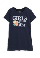 Vestido Infantil Girls Brandili  Azul-Marinho