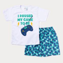 Conjunto Infantil Videogame Short + Camiseta – 2 Peças