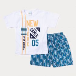 Conjunto Infantil New York Gamer Short + Camiseta  - 2 Peças