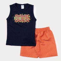 Conjunto Infantil Gamer Over Short + Camiseta  - 2 Peças