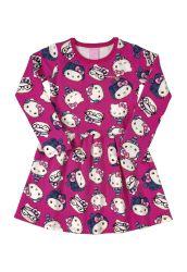 Vestido Infantil Hello Kitty Rosa