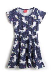 Vestido Tricae Infantil Unicórnio