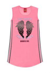 Vestido Regata Infantil Garota Maravilha Pink