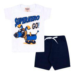 Conjunto Infantil Short +  Camiseta Superhero – 02 Peças