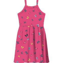 Vestido de Alças Infantil Borboleta Rosa