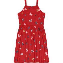 Vestido de Alças Infantil Borboleta Vermelho