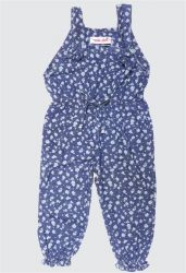 Macaquinho Jeans Floral Miss Doll