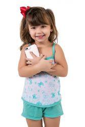 Baby Doll Infantil Laços e Corações