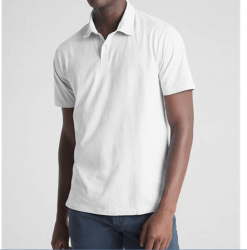 Camisa Polo  GAP Supersoft Manga Curta Masculino
